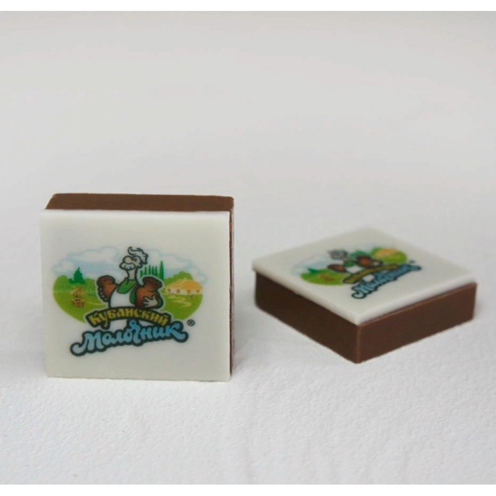 Шоколадная плитка 3х3 см. с логотипом