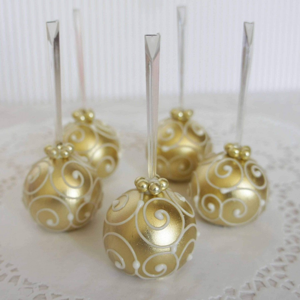 Кейк-попс золотой