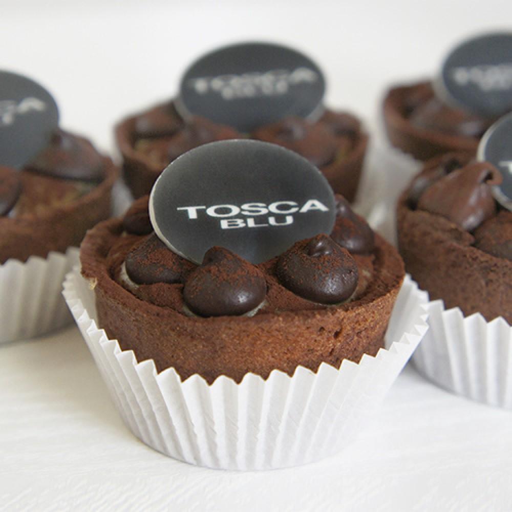 Пирожные с логотипом