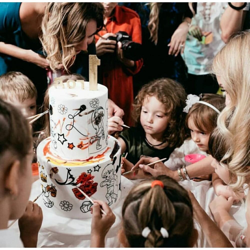 Торт раскраска 2