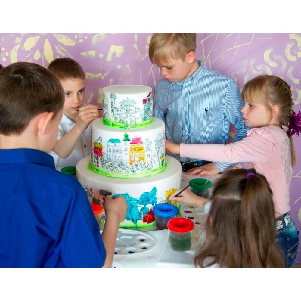 Торт раскраска 3